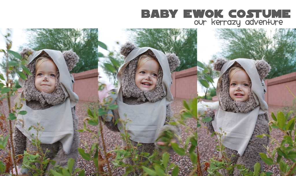 Baby ewok costume tutorial our kerrazy adventure isnt that the sweetest ewok ever my older boys couldnt get over how cute she looked and if you need an ewok costume solutioingenieria Gallery