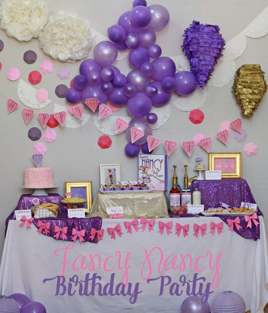 Fancy Nancy Birthday Party Ideas: Four & Fabulous